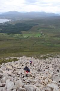 Climbing Beinn na Callich (c) Duncan Hutt